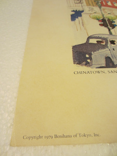 Dong Kingman Chinatown San Francisco Copyright 1979 Benihana Tokyo Inc Lithograph - Designer Unique Finds   - 5