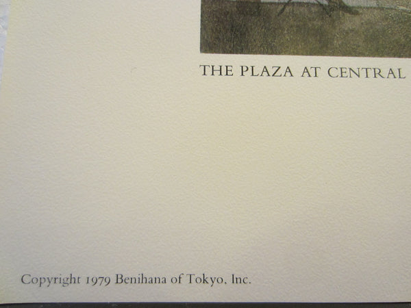 Don Kingman The Plaza At Central Park New York Mid Century Lithograph - Designer Unique Finds   - 4