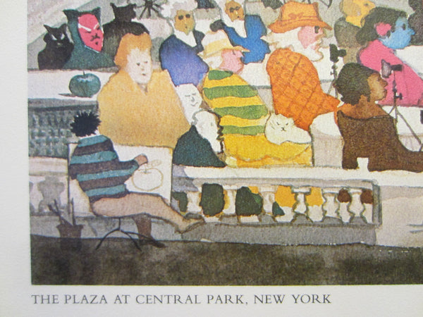 Don Kingman The Plaza At Central Park New York Mid Century Lithograph - Designer Unique Finds   - 3