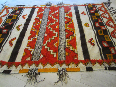 A Tribal Art Rug Geometric Chevron Pattern Bold Colors
