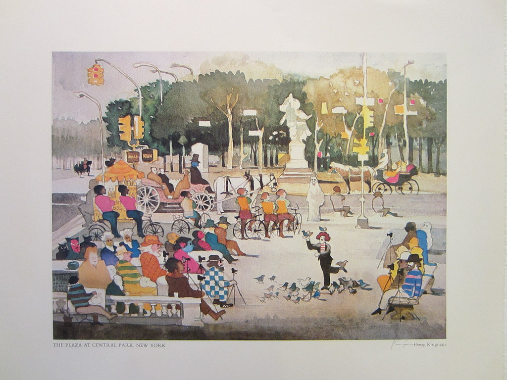 Don Kingman The Plaza At Central Park New York Mid Century Lithograph - Designer Unique Finds   - 1