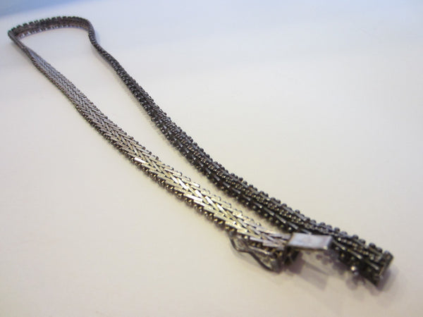 Abstract Sterling Chain Necklace Safety Clasp Marked Premex MP76 925 - Designer Unique Finds
