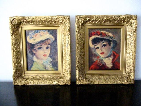 Huldah Lithograph Annette And Suzanne Portraits Limited Edition - Designer Unique Finds   - 1