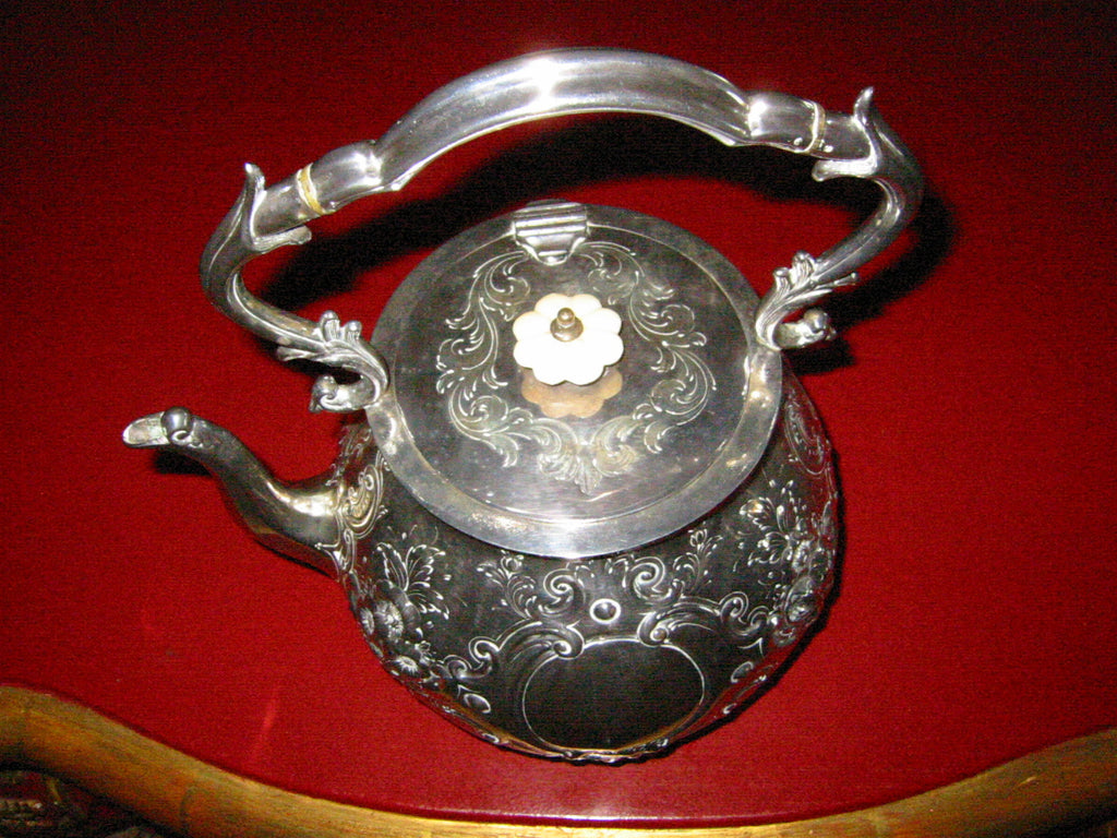 Mappin Brothers London Silver Teapot Kettle Lion Medallions Hallmarks - Designer Unique Finds   - 2