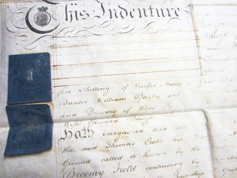 Antique Marriage Certificate Deed