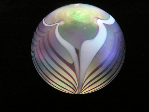 Luminous Opalescent  Glass Paperweight - Designer Unique Finds