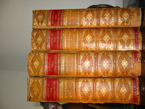 Bryants Popular History of The United States 4 Volumes Books Leather Binding - Designer Unique Finds   - 3