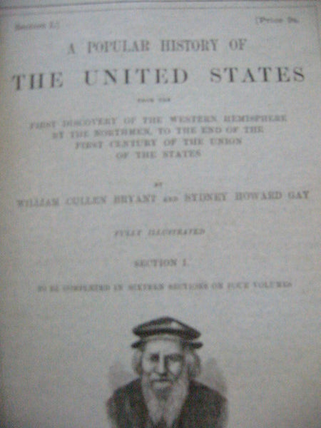Bryants Popular History of The United States 4 Volumes Books Leather Binding - Designer Unique Finds   - 2