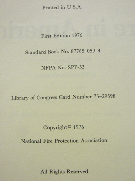 Fire in America By Paul Robert Lyons Illustrated First Edition Hard Copy Dust Jacket - Designer Unique Finds   - 4