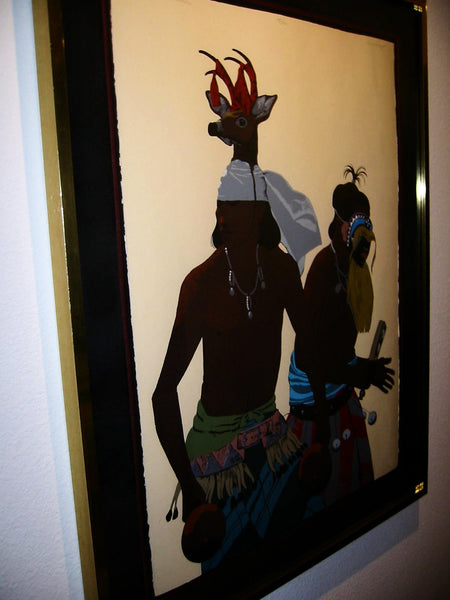 Louis De Mayo The Yaqui Deer Dancer Native Signed Lithograph - Designer Unique Finds   - 3