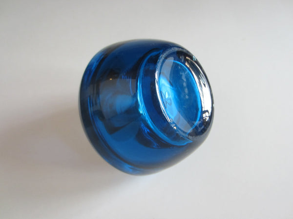 Mid Century Modern Cobalt Glass Japan Table Lighter - Designer Unique Finds