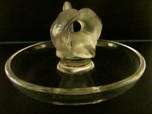 Lalique France Frost Crystal Swan Tray With Signature - Designer Unique Finds   - 5