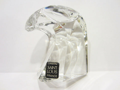 Cristal Saint Louis France Signed Crystal Bald Eagle Head - Designer Unique Finds   - 3