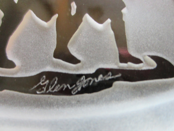 Glen Jones Commemorative Bicentennial Glass Paperweight Limited Edition - Designer Unique Finds