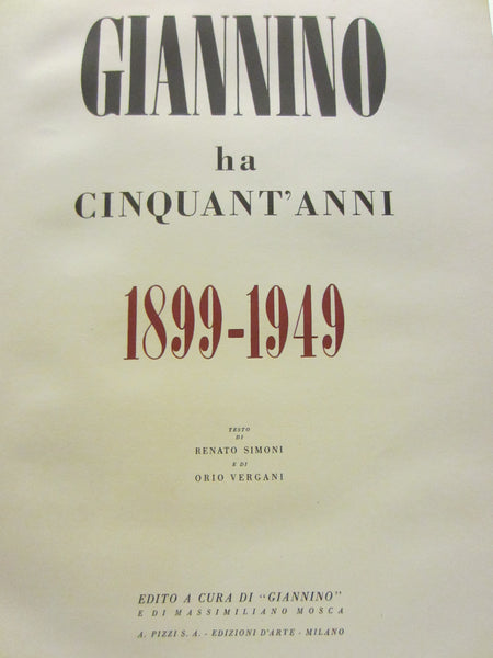 Giannino Ha Cinquant Anni Illustrated Italian LE Historic Restaurant Book - Designer Unique Finds   - 2