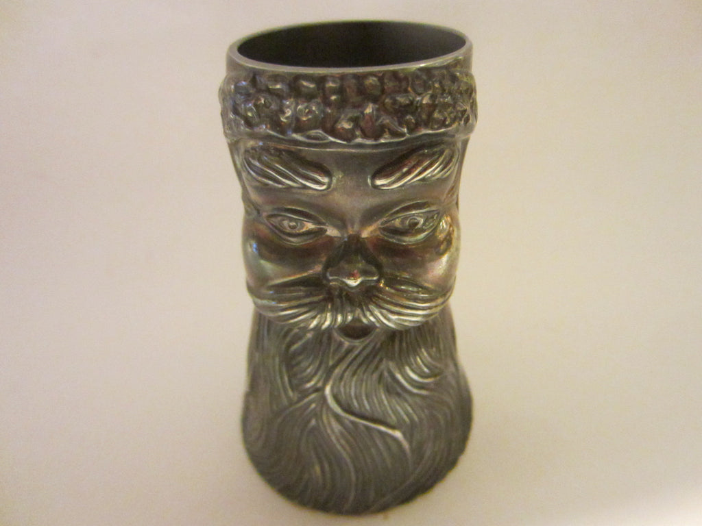 Mystery Man Liquor Double Sided Pewter Cup - Designer Unique Finds   - 1