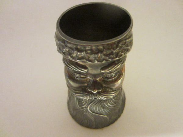 Mystery Man Liquor Double Sided Pewter Cup - Designer Unique Finds   - 3