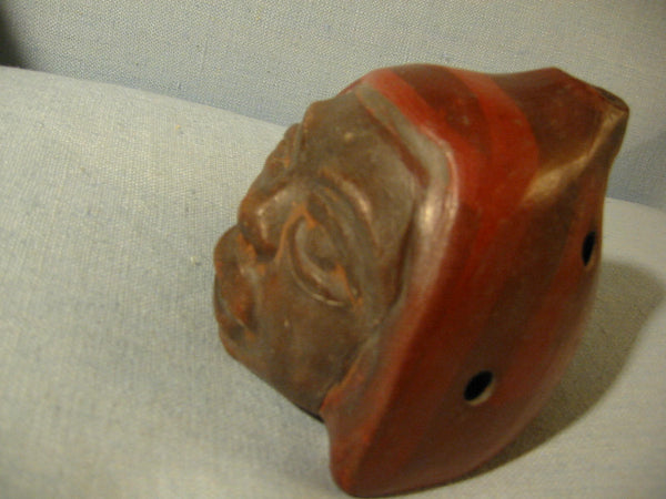 Chilean Ceramic Figure Head Terracotta Signature Portait Pottery - Designer Unique Finds   - 4