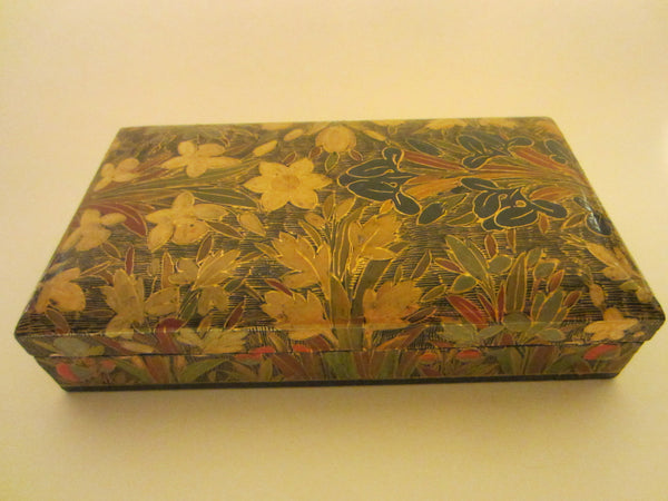 Papier Mache Lacquer Box Handmade In Kashmir India Exclusively For Kimcal - Designer Unique Finds   - 3
