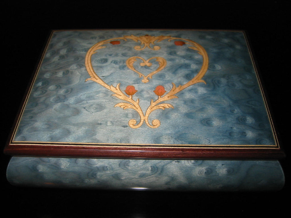 Giglio Asia Sorrento Italy Blue Jewelry Box San Francisco Music Company - Designer Unique Finds   - 1