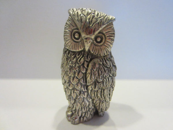 Peltro Italy Silver Miniature Owl - Designer Unique Finds   - 3