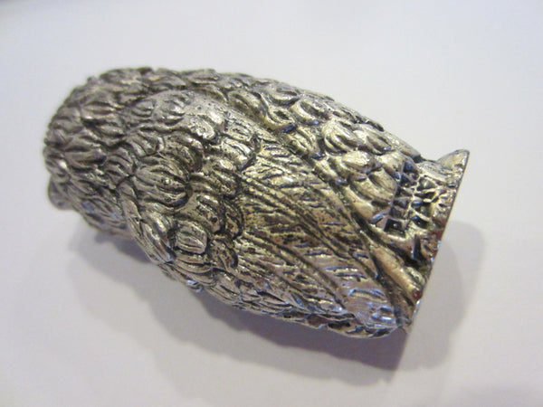 Peltro Italy Silver Miniature Owl - Designer Unique Finds   - 2