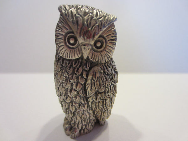 Peltro Italy Silver Miniature Owl - Designer Unique Finds   - 5
