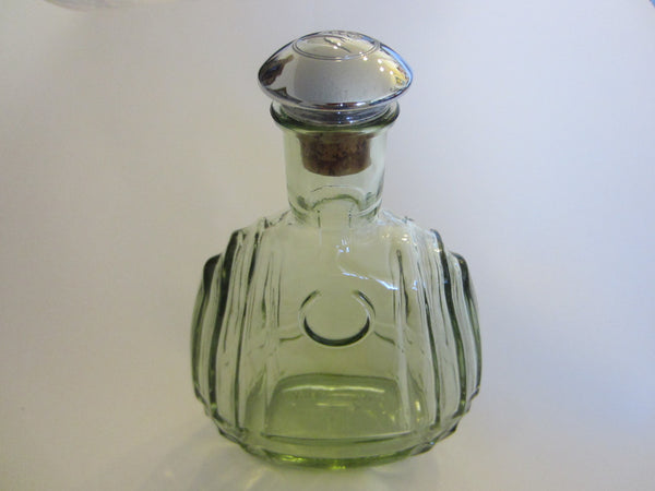 France Martell Cognac Glass Decanter Apothecary Chrome Cork Stopper - Designer Unique Finds   - 3