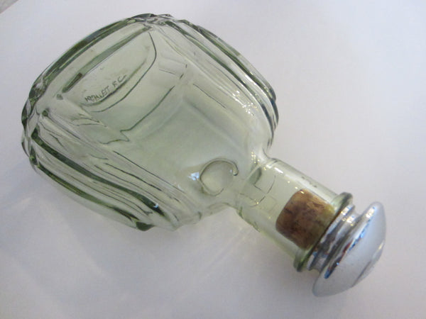 France Martell Cognac Glass Decanter Apothecary Chrome Cork Stopper - Designer Unique Finds   - 5