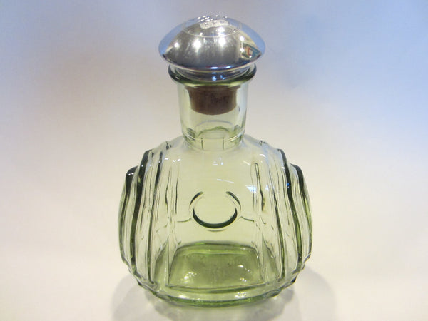 France Martell Cognac Glass Decanter Apothecary Chrome Cork Stopper - Designer Unique Finds   - 1