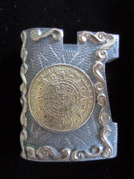 Colonial Style Bronze Match Box Holder Figurative Sundial - Designer Unique Finds   - 2