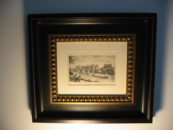 Chateau Drawing Impressionist Signed D'allemagne Black Etching Castle Scene - Designer Unique Finds   - 2
