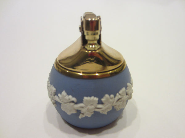 Wedgwood ER Blue Bass Relief Porcelain Lighter Jewelry Box Hand Decorated - Designer Unique Finds