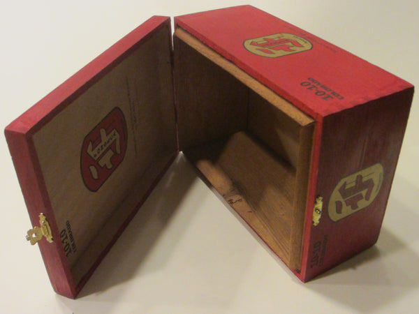 Colorado Fonseca Red Hinged Wooden Box - Designer Unique Finds