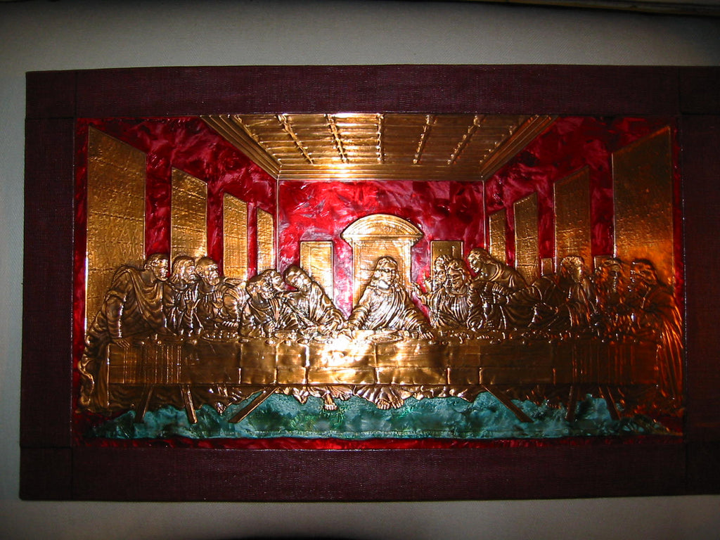 The Last Supper Gallington Jack Tin Foil Religious Art - Designer Unique Finds