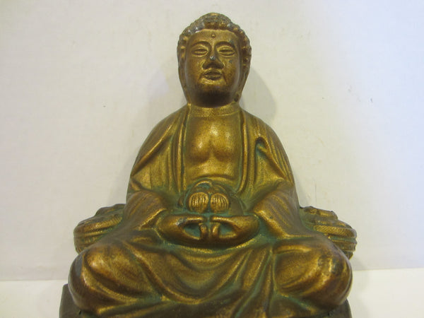 Bronze Buddha Incense Statue - Designer Unique Finds