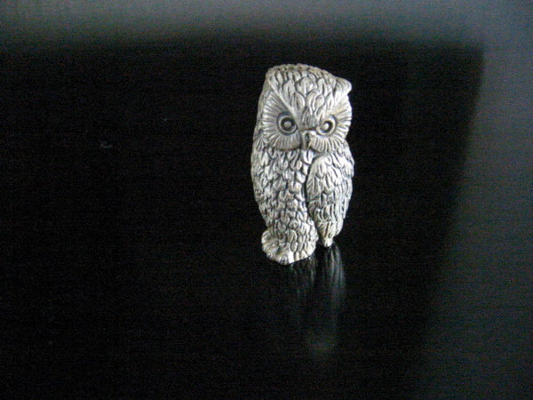 Peltro Italy Silver Miniature Owl - Designer Unique Finds   - 4