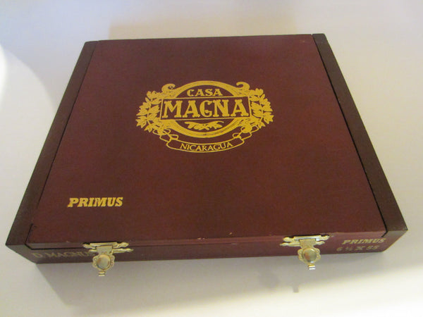 Casa Magna Primus Cigar Box Hand Crafted Golden Embossed - Designer Unique Finds   - 1