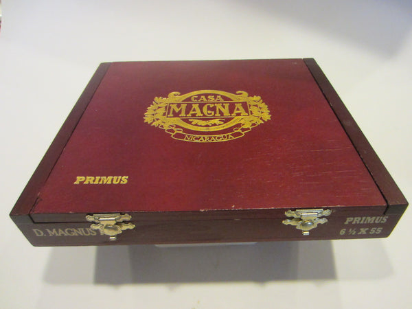 Casa Magna Primus Cigar Box Hand Crafted Golden Embossed - Designer Unique Finds   - 2