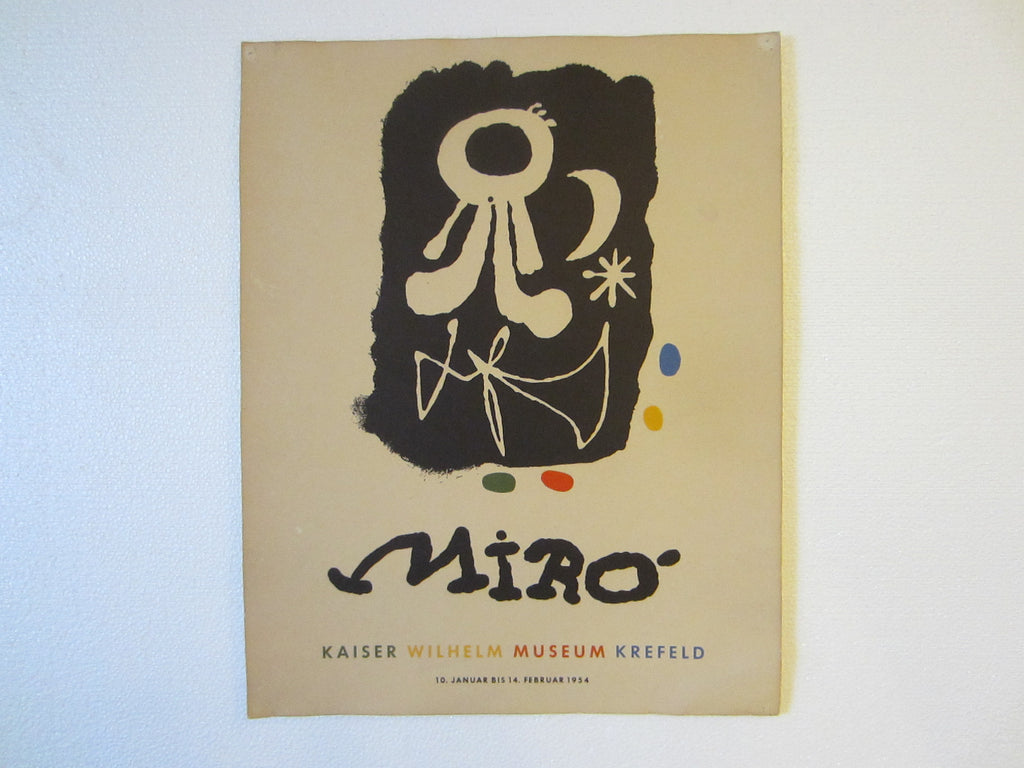 Joan Miro Abstract Mid Century Exhibition Poster Museum