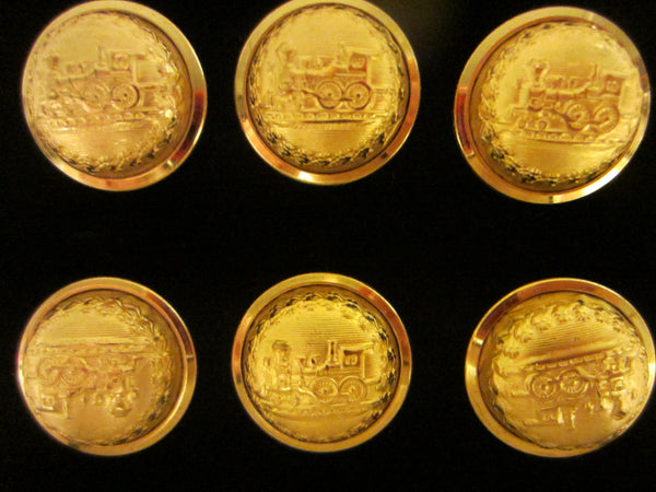 American Heritage Railroad Brass Button Set - Designer Unique Finds   - 2