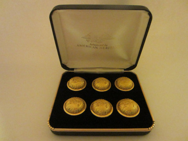 American Heritage Railroad Brass Button Set - Designer Unique Finds   - 3
