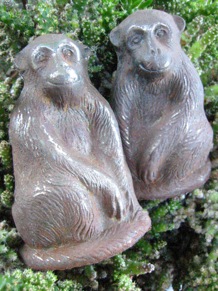 The Monkeys Cast Iron Door Stoppers Book Ends - Designer Unique Finds   - 3