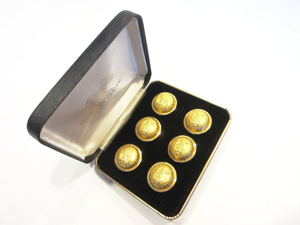 American Heritage Railroad Brass Button Set - Designer Unique Finds   - 1