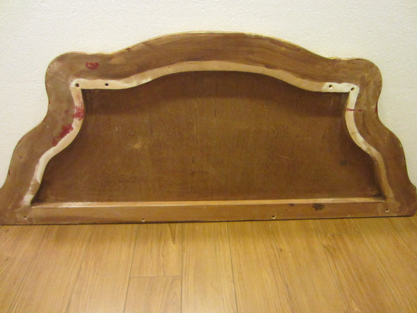 Italian Red Console Tuscan Wood Gold Leaf Shell Decorated - Designer Unique Finds   - 7