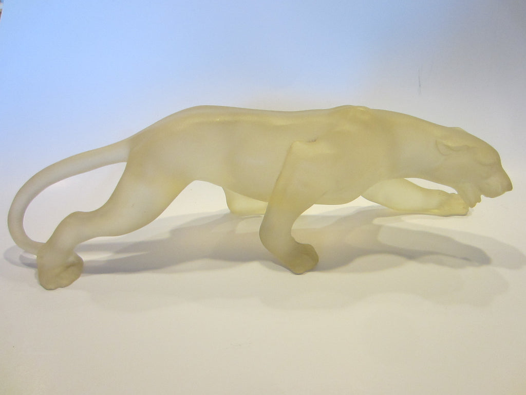 Roaring Panther Resin Sculpture Contemporary Modernist Candy Art - Designer Unique Finds   - 2