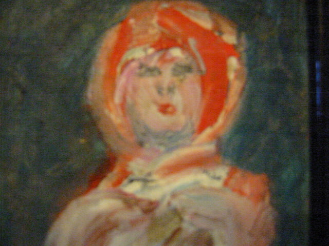 Roky Roka Abstract Oil Base Impressionist Surrealist Portrait