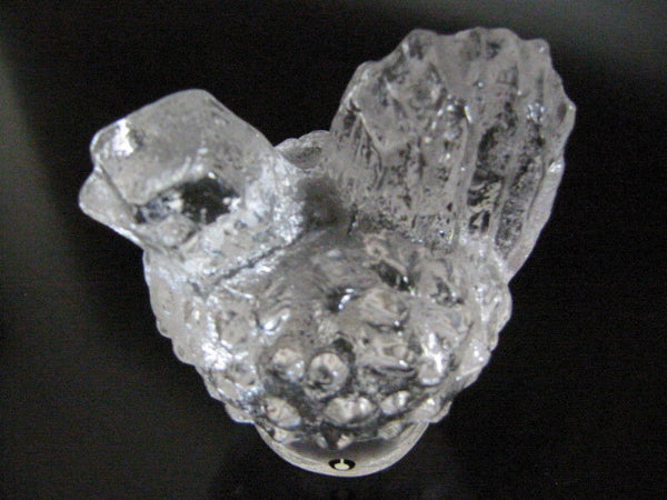 Pukeberg Sweden Crystal Chick Bird Signed Art Glass - Designer Unique Finds