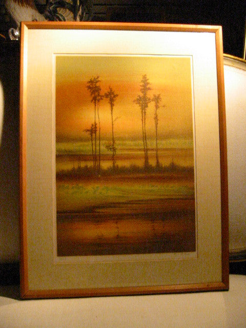 French Sunset Lithograph Signed Limited Edition Artist Proof - Designer Unique Finds   - 2