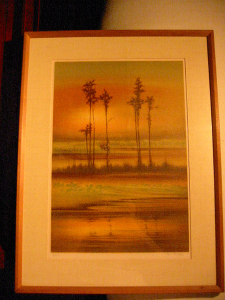 French Sunset Lithograph Signed Limited Edition Artist Proof - Designer Unique Finds   - 6